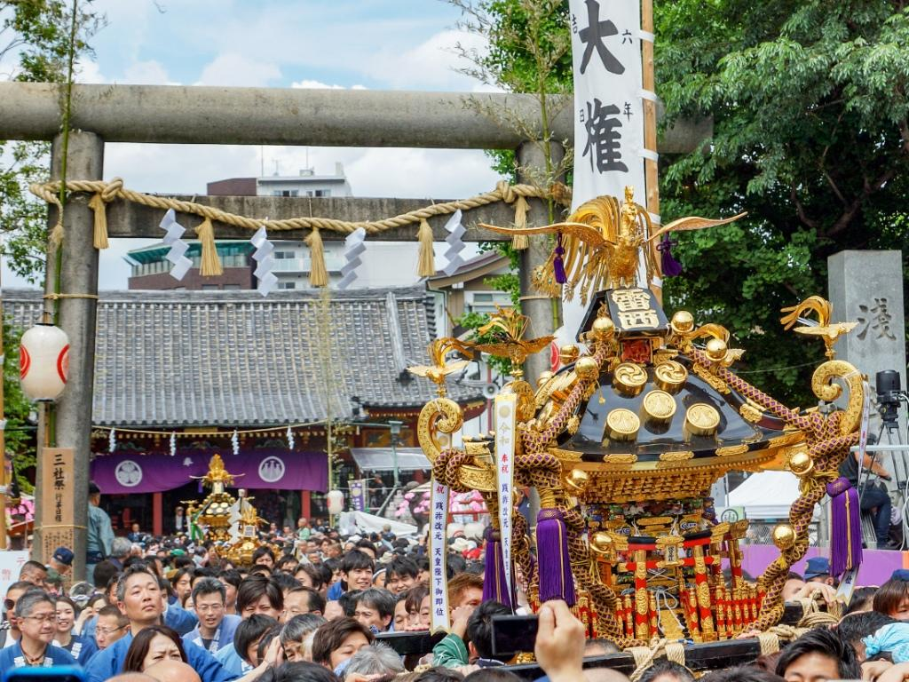令和元年 三社祭り 町内神輿宮入風景